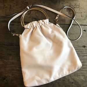 Zara TRF Pale Pink Ring Handle Crossbody Bag